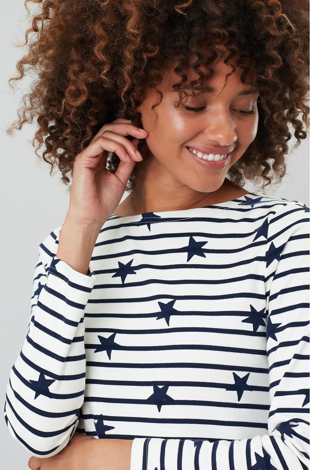 Joules Stripe Star Top - Back Cropped Image