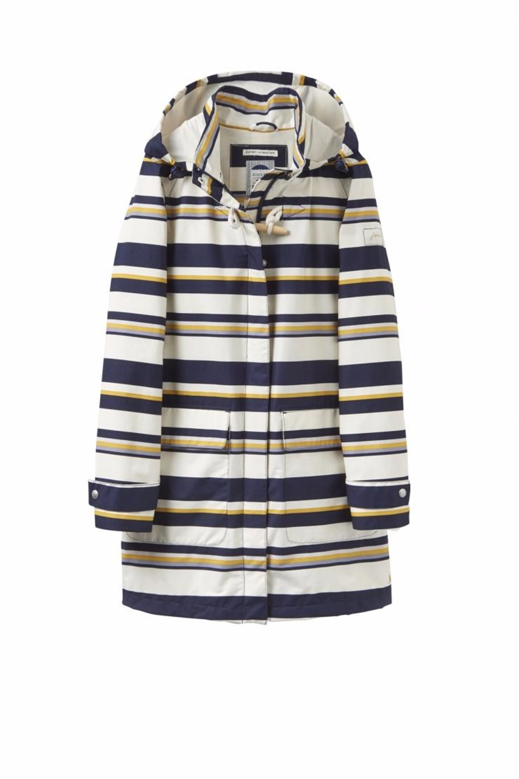 Joules Stripe Waterproof Jacket - Front Cropped Image