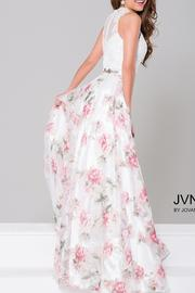 Jovani Beaded Lace Gown - Front full body