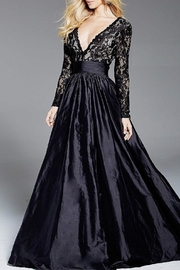 Jovani Long Sleeve Gown - Front cropped