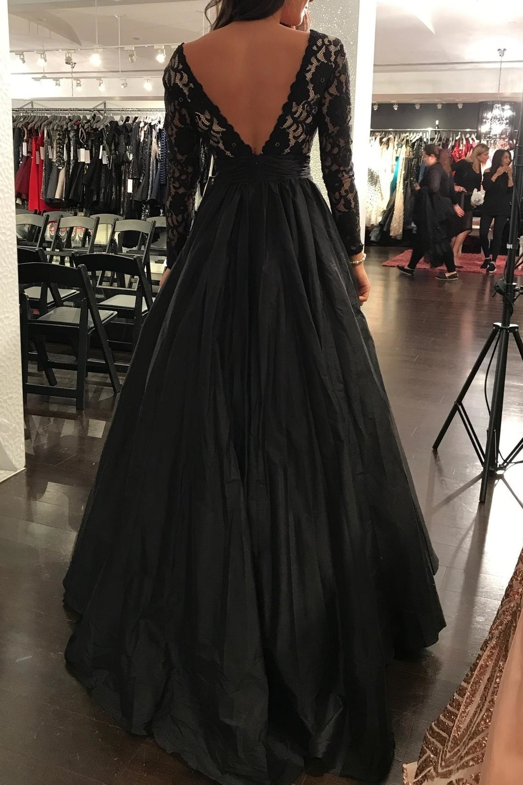Jovani Long Sleeve Gown - Side Cropped Image