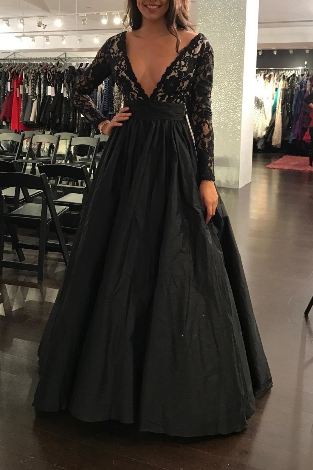 Jovani Long Sleeve Gown - Front Full Image