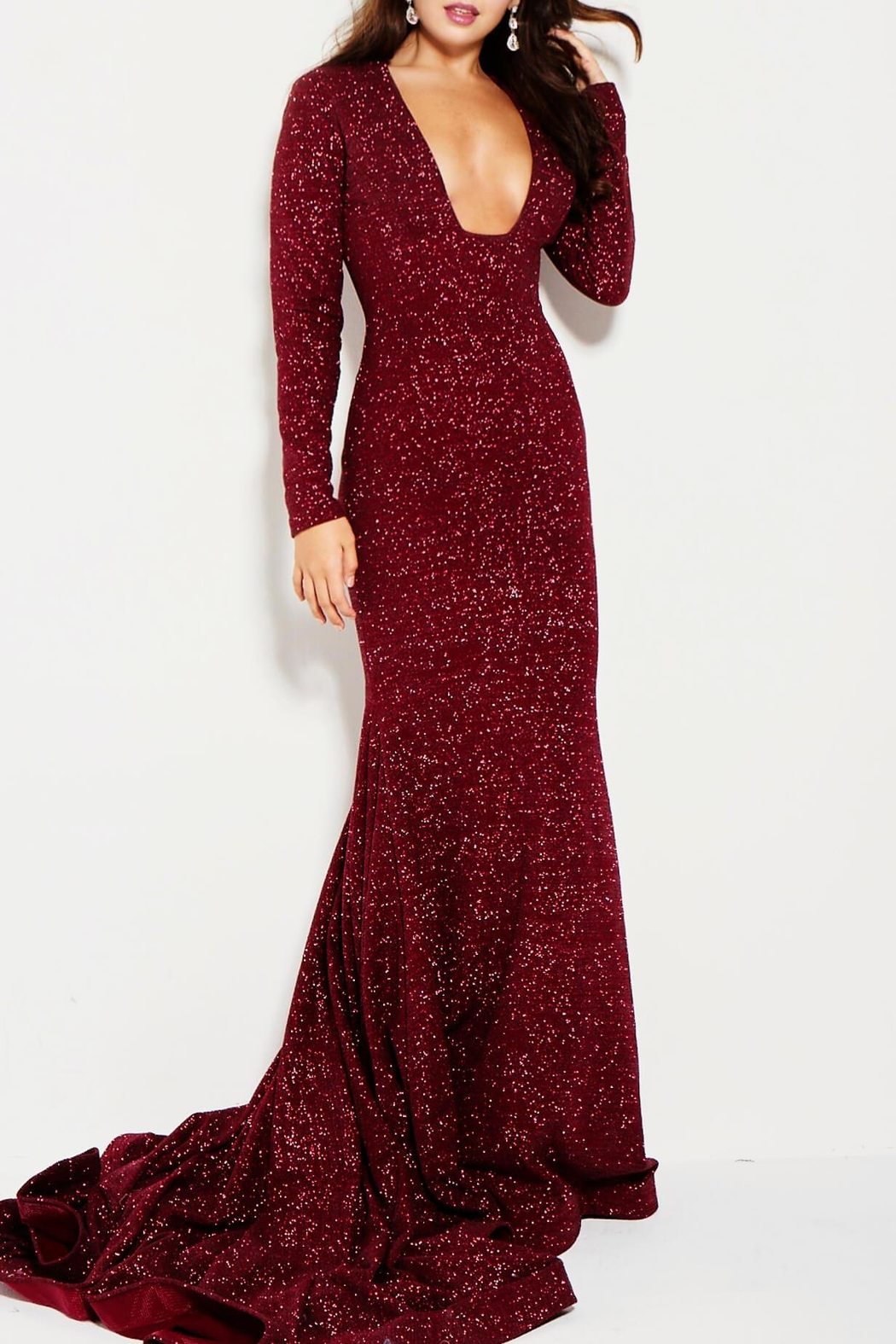 Jovani Long Sleeve Gown from New Jersey by District 5 Boutique ...