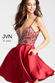 Jovani Red, Beaded Dress - Side cropped
