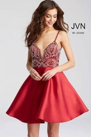 Jovani Red, Beaded Dress - Product Mini Image