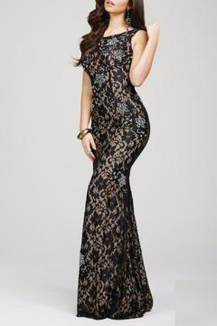 Jovani PROM Fitted Lace Dress - Product List Image