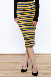 Jovonna  Stripe Knit Pencil Skirt - Product Mini Image