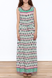 Joy & Co Printed Maxi Dress - Front cropped