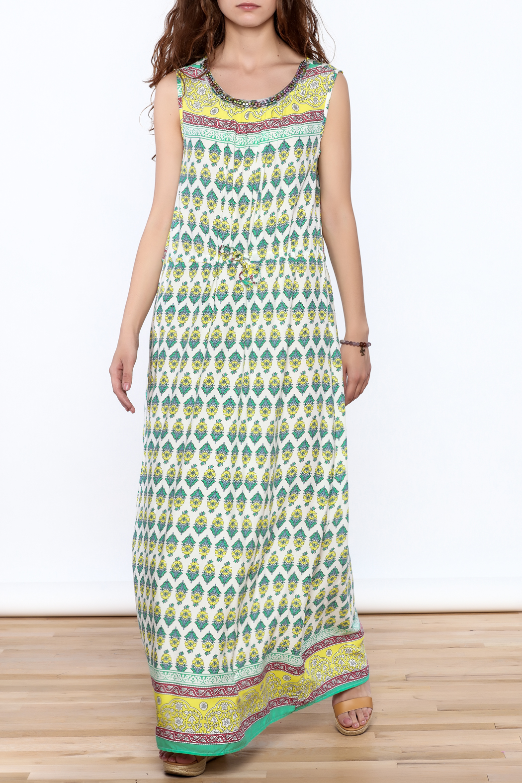 Joy & Co Printed Maxi Dress - Main Image