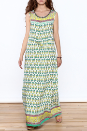 Joy & Co Printed Maxi Dress - Front full body
