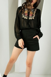 THML Clothing Joy Embroidered Blouse - Product Mini Image