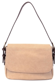 Joy Accessories Beige Brown Purse - Front cropped