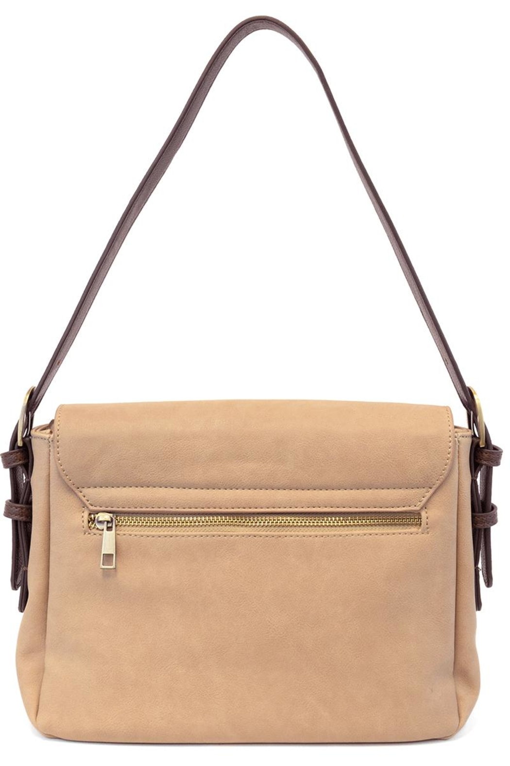 Joy Accessories Beige Brown Purse - Front Full Image