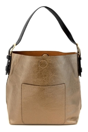 Joy Accessories Bronze Hobo Bag - Front cropped