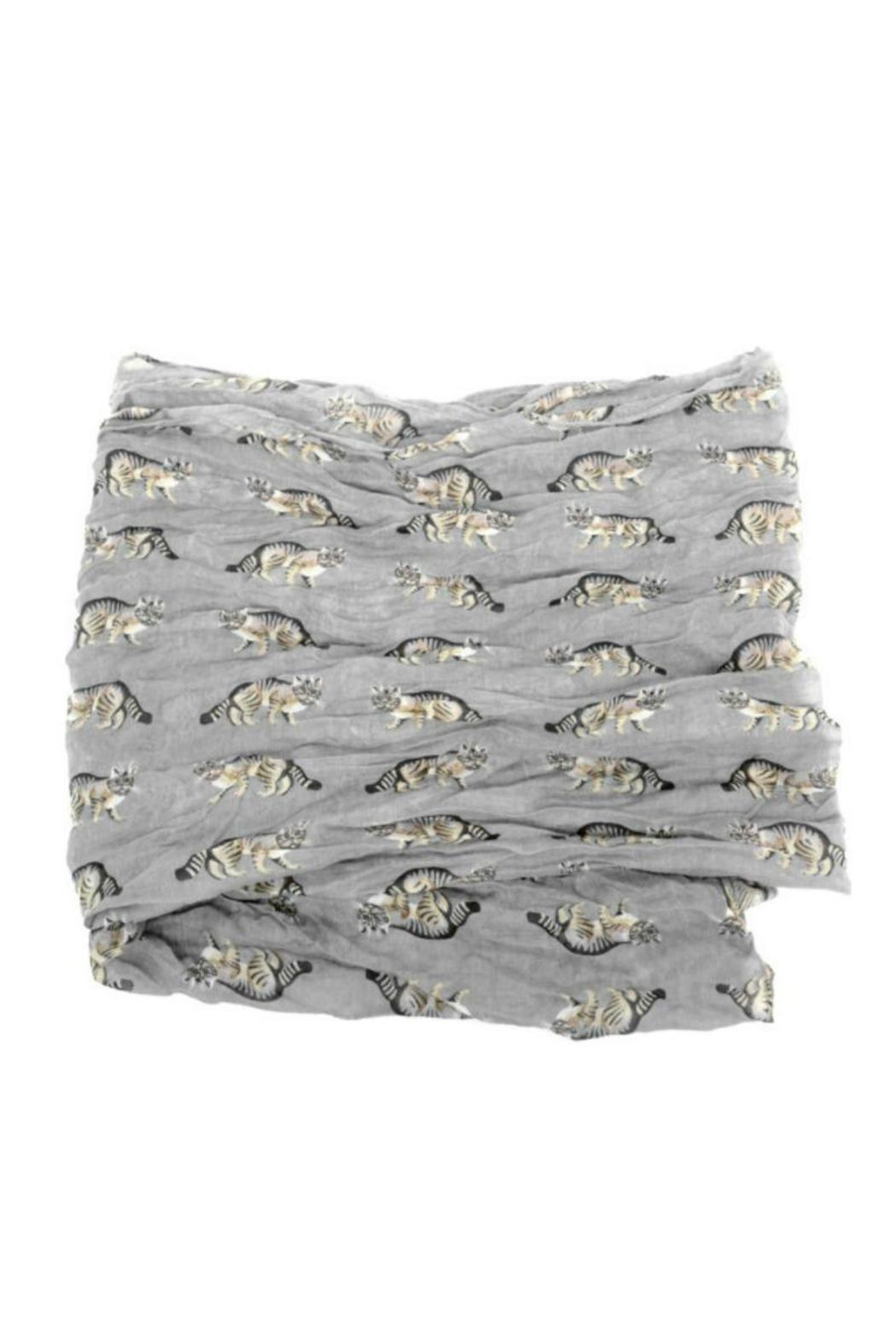 Joy Accessories Cat Print Scarf - Front Full Image