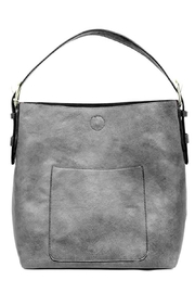 Joy Accessories Grey Hobo - Front cropped