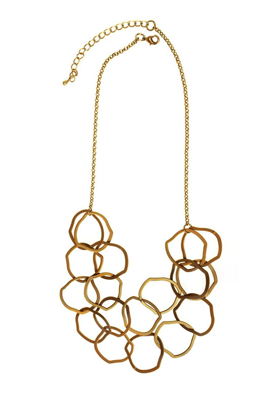 Joy Accessories Linked Rings Necklace - Main Image