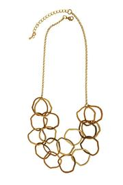 Joy Accessories Linked Rings Necklace - Front cropped