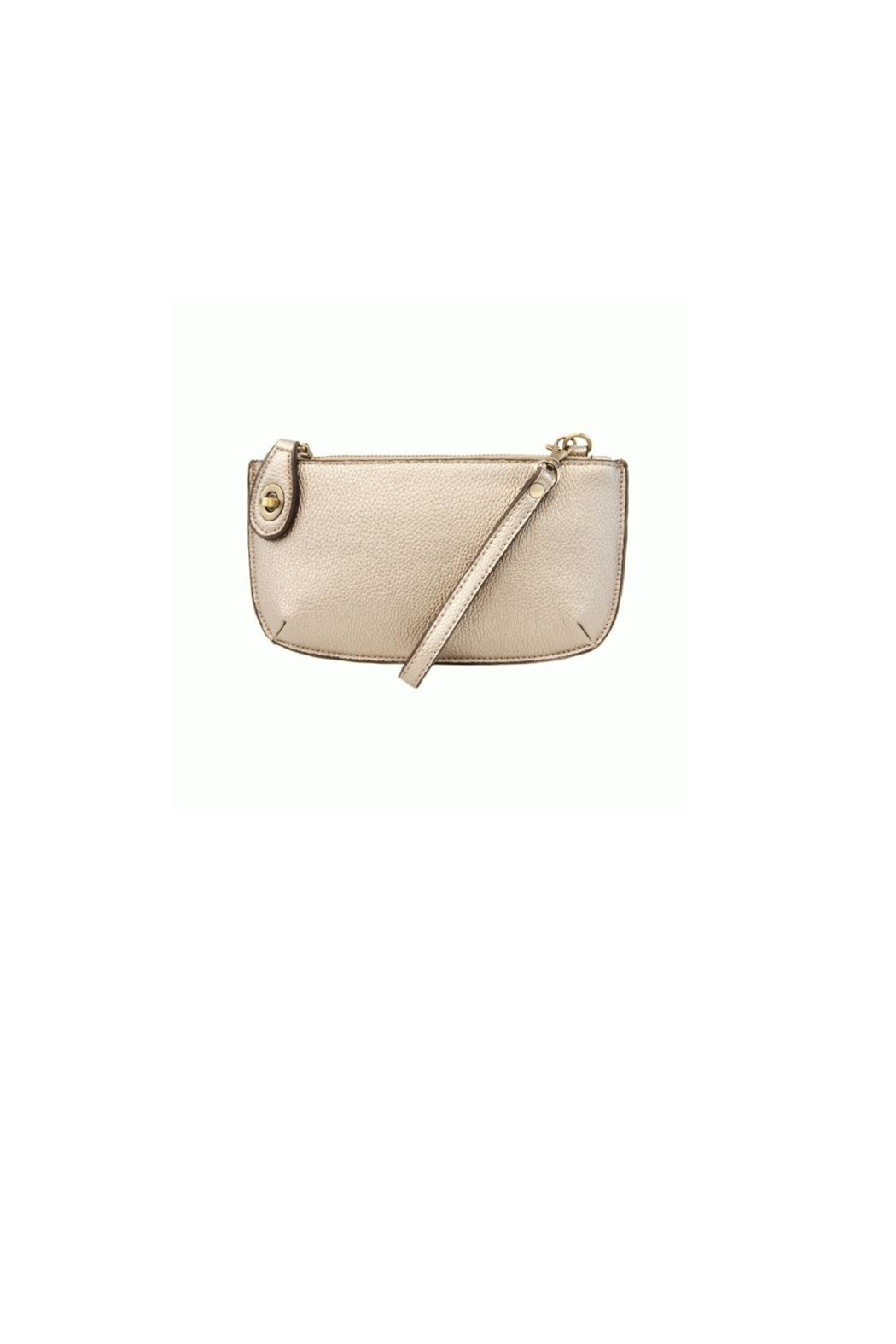 Joy Accessories Metalic Pearl Clutch - Front Cropped Image