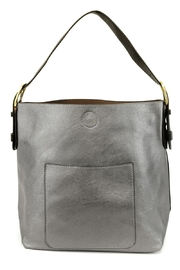 Joy Accessories Pewter Hobo Bag - Product Mini Image