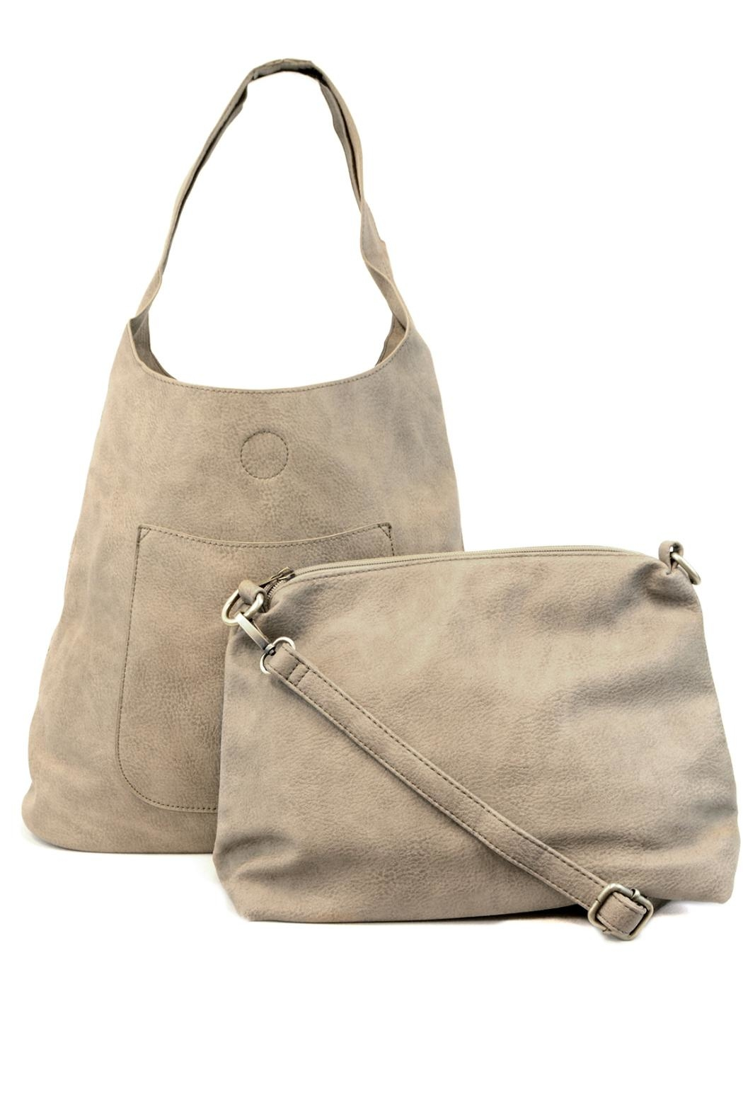 Joy Accessories Slouchy Hobo Bag - Back Cropped Image