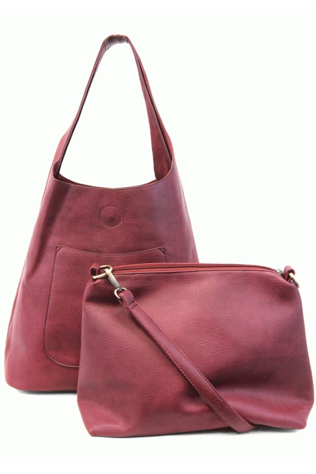 Joy Accessories Slouchy Hobo Bag - Front Full Image