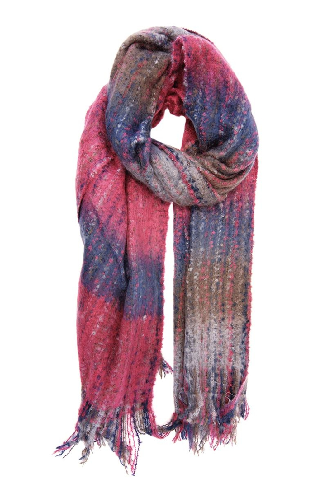 Joy Accessories Woven Ombre Scarf - Front Cropped Image