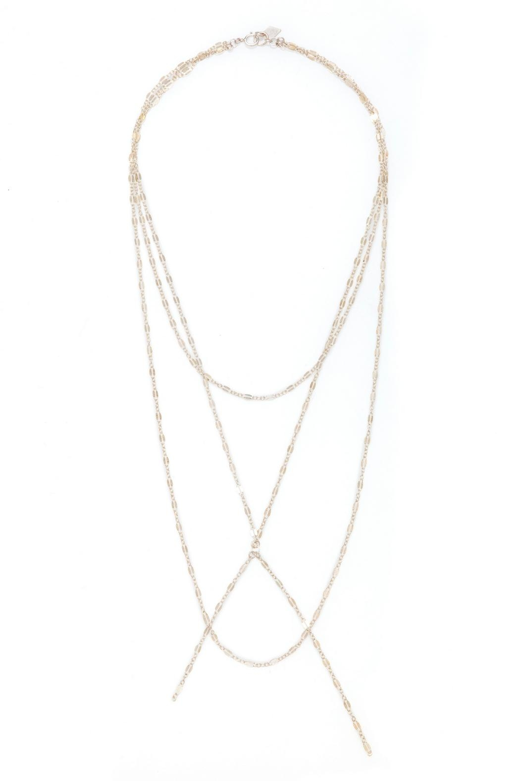 Joy Dravecky Clover Tri-Layer Necklace - Main Image