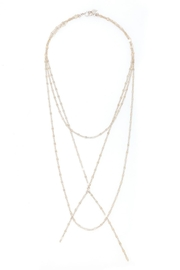 Joy Dravecky Clover Tri-Layer Necklace - Front cropped
