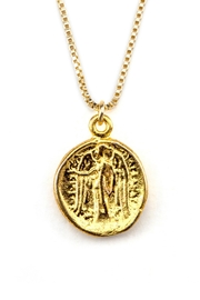 Joy Dravecky Fortune Coin Necklace - Product Mini Image