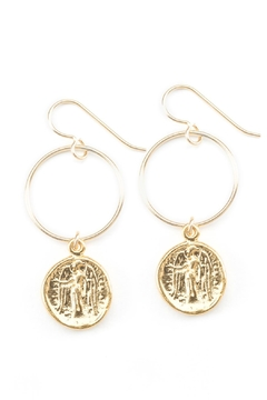 Shoptiques Product: Fortune Hoop Earrings
