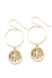 Joy Dravecky Fortune Hoop Earrings - Product Mini Image