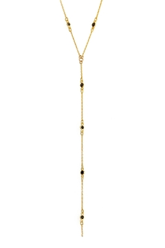Joy Dravecky Midnight Y Necklace - Product List Image