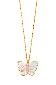 Joy Dravecky Moarch Butterfly Necklace - Product List Image