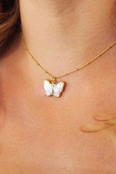 Joy Dravecky Moarch Butterfly Necklace - Alternate List Image
