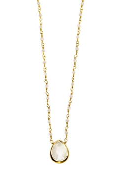 Joy Dravecky Pear Moonstone Necklace - Product List Image
