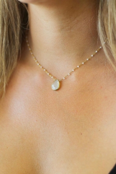 Joy Dravecky Pear Moonstone Necklace - Alternate List Image