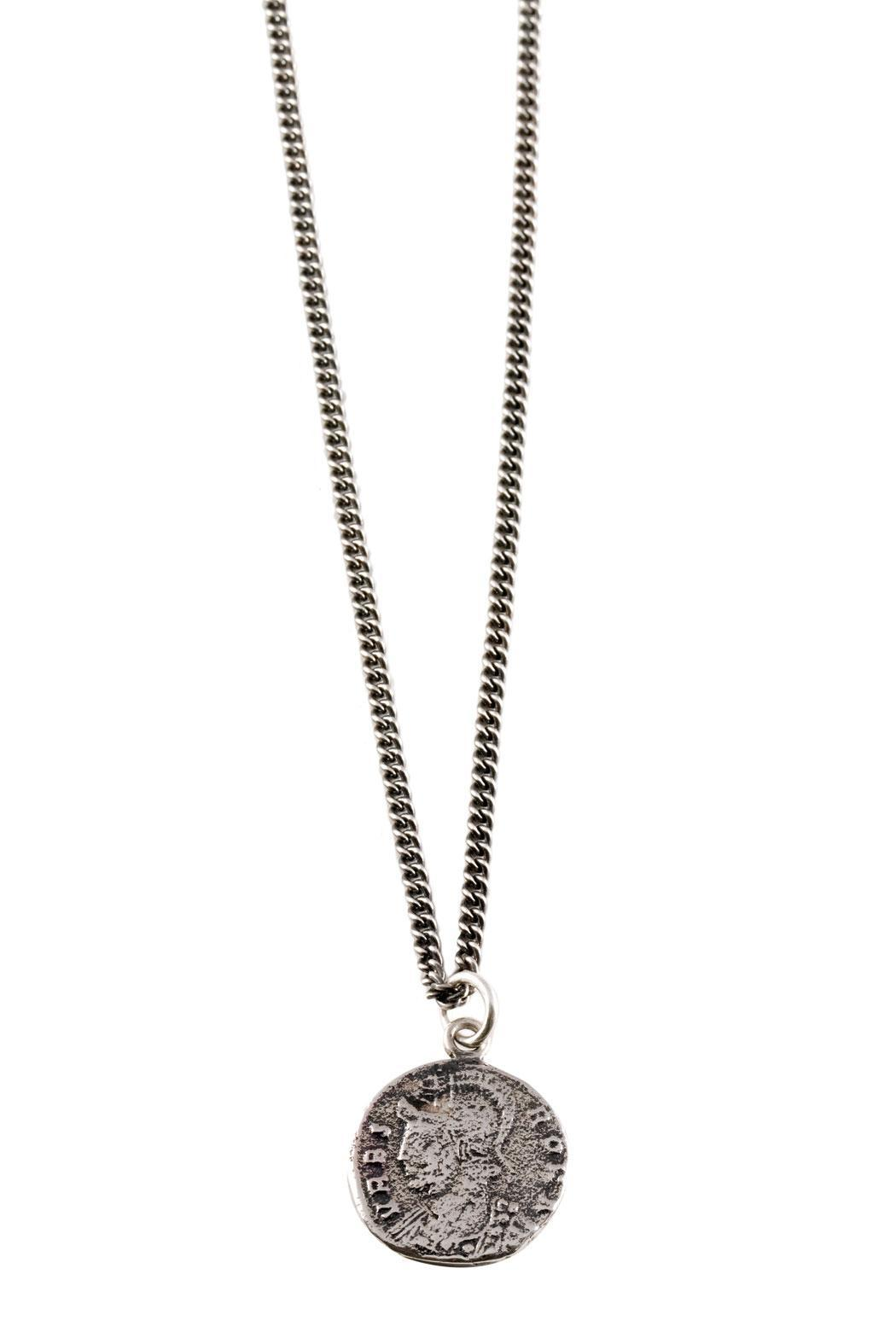 Joy Everley Roman Coin Necklace - Front Full Image