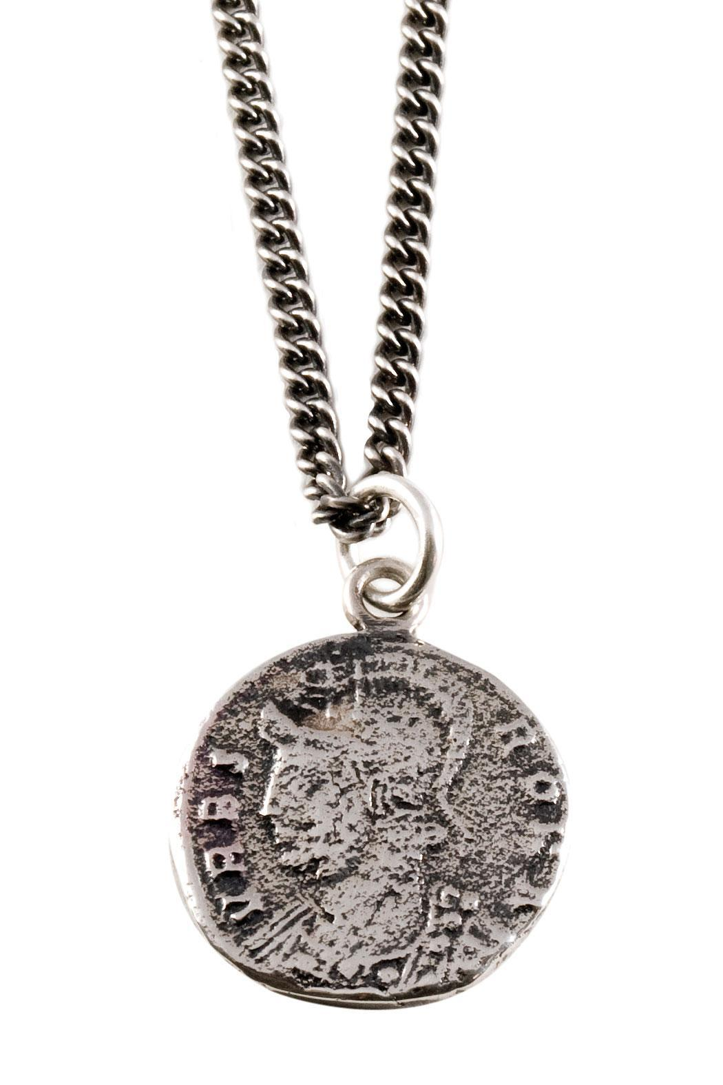 Joy Everley Roman Coin Necklace - Front Cropped Image