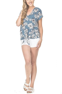 Joy Joy Floral Tie Front Top - Alternate List Image