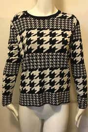 Joy Joy Houndstooth Crew-Neck Sweater - Front cropped