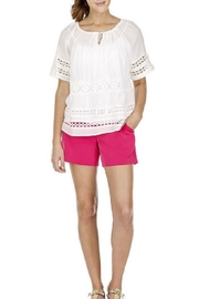 Joy Joy Laced Peasant Top - Product Mini Image