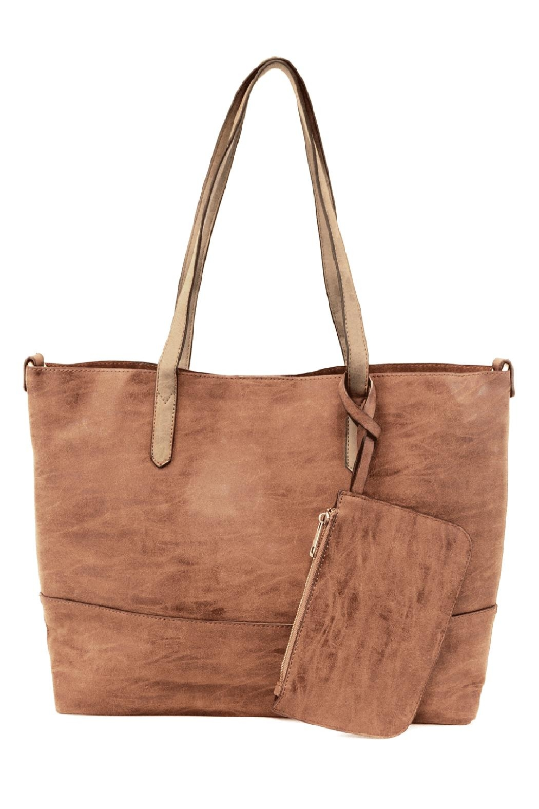 Joy Susan Accessories Brushed 2in1 Tote - Front Cropped Image