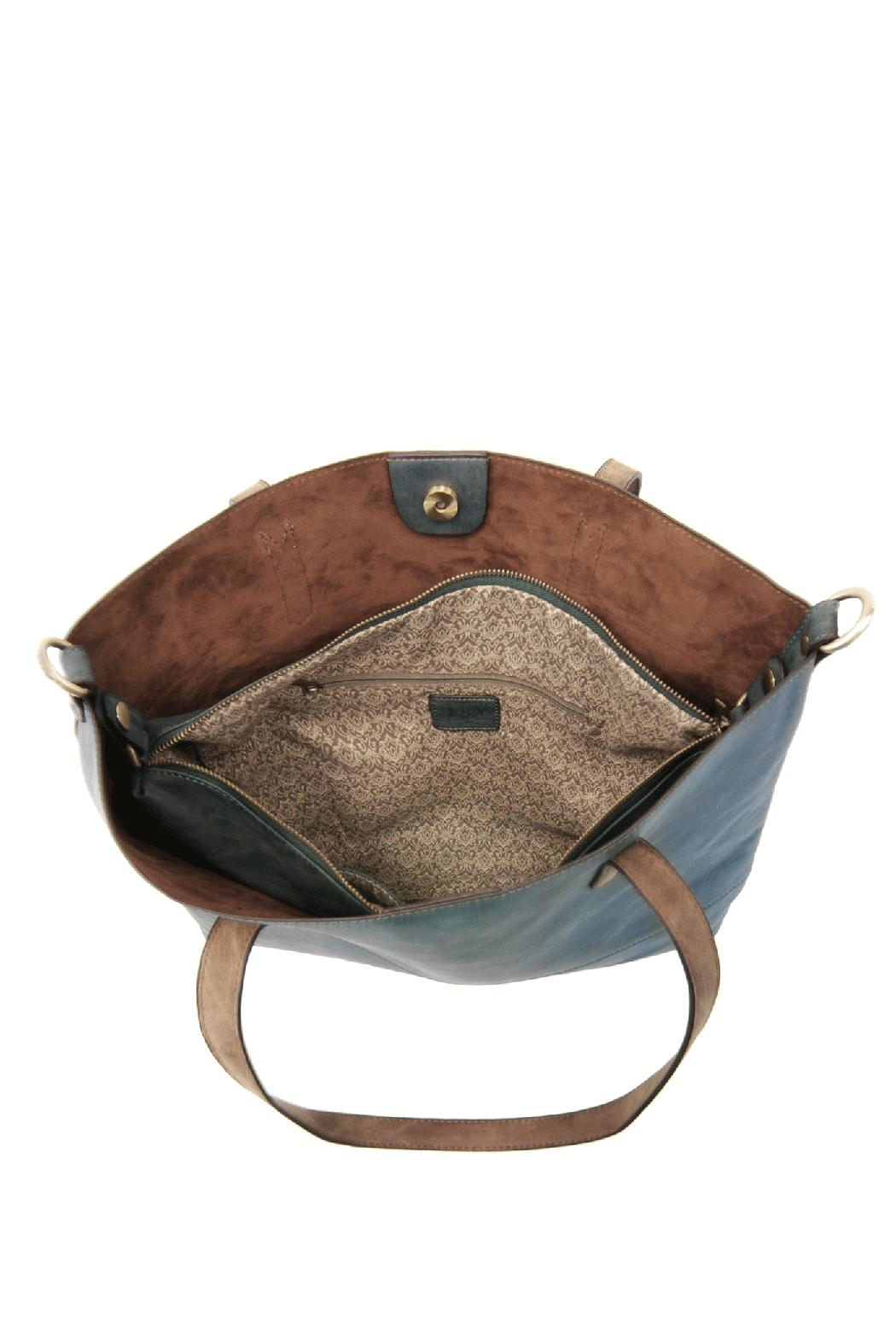Joy Susan Accessories Brushed 2in1 Tote - Back Cropped Image