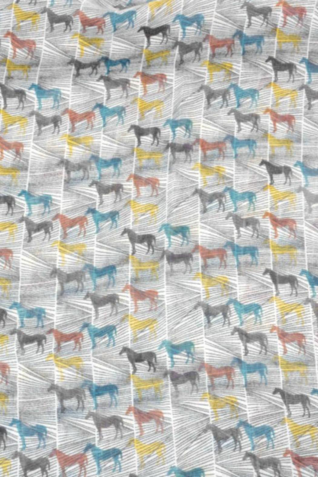 Joy Susan Accessories Horse Oblong Scarf - Front Full Image