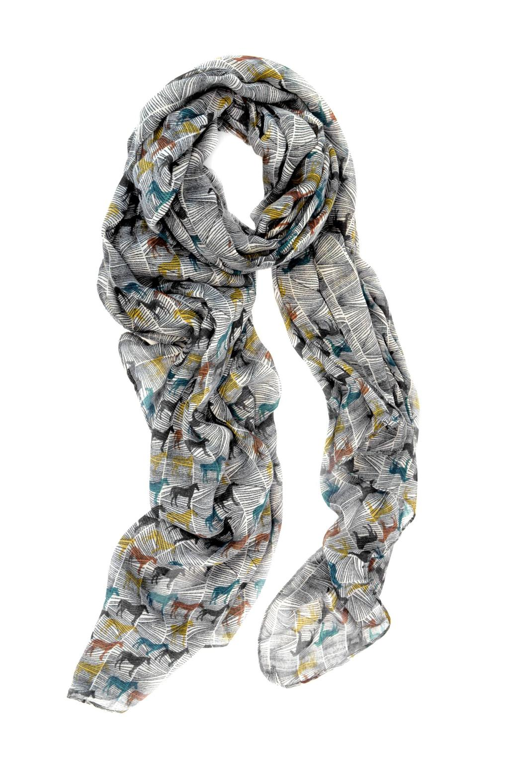 Joy Susan Accessories Horse Oblong Scarf - Main Image