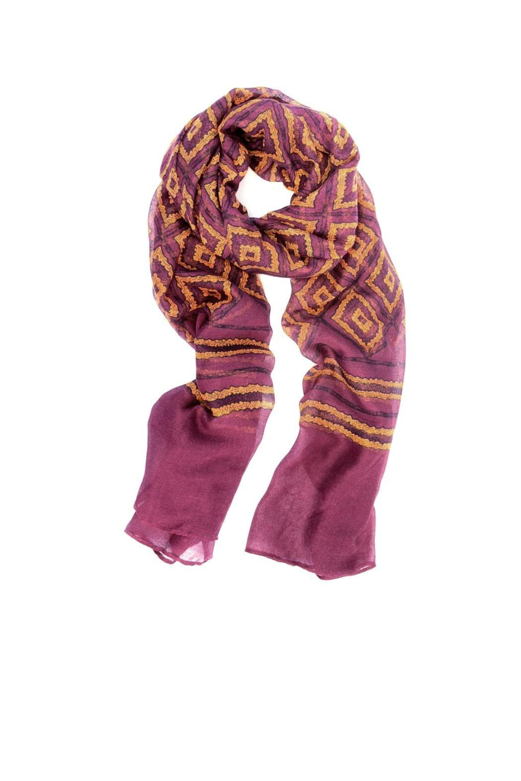 Joy Susan Accessories Maroon Diamonds Scarf - Main Image