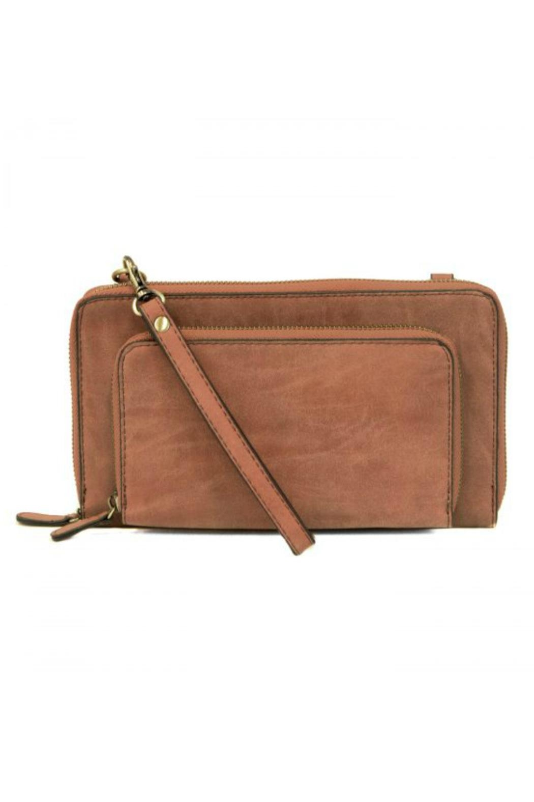 Joy Susan Accessories Mini Convertible Zip Wallet - Front Cropped Image