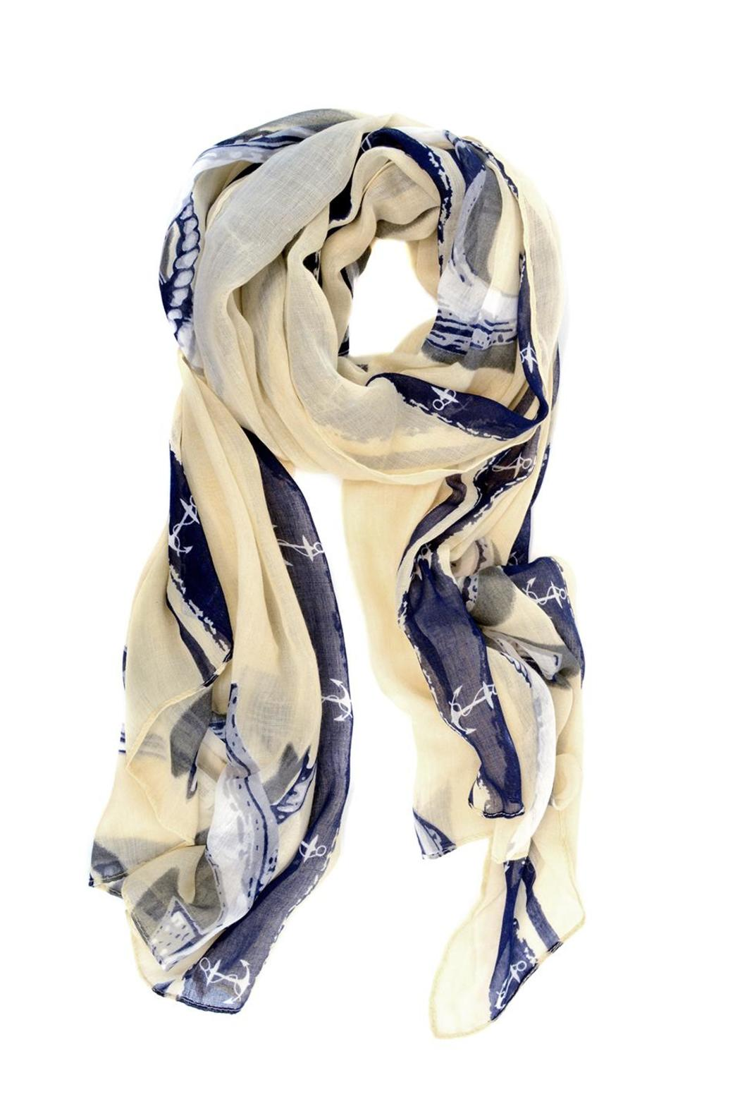 Joy Susan Accessories Nautical Anchor Scarf - Front Cropped Image