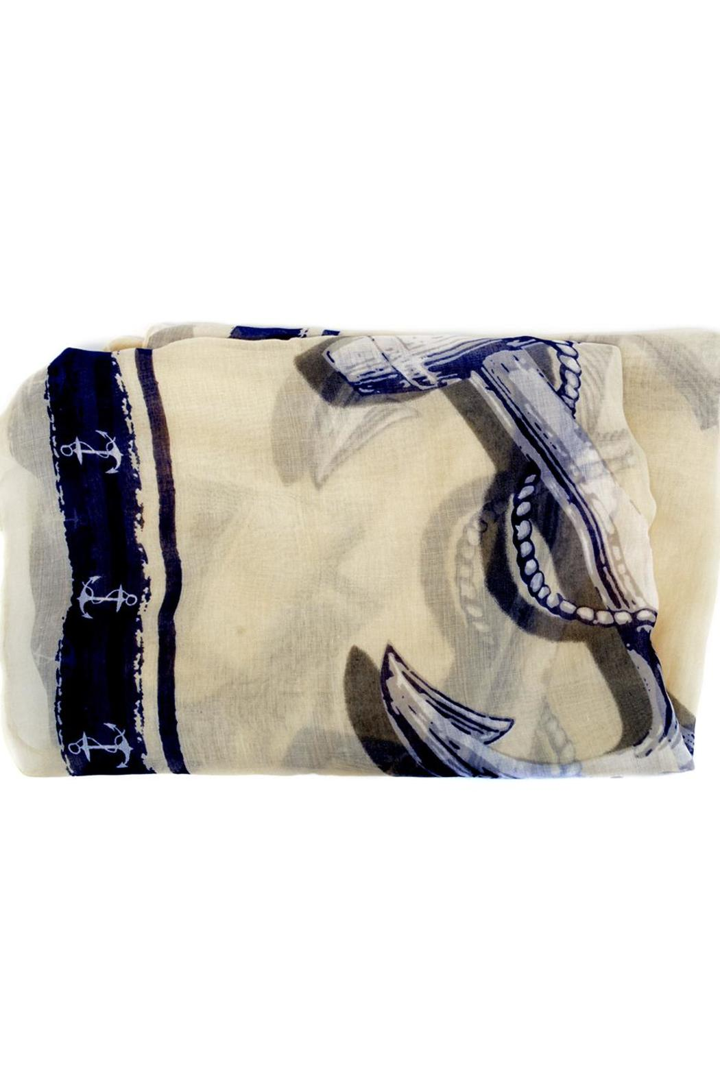 Joy Susan Accessories Nautical Anchor Scarf - Front Full Image